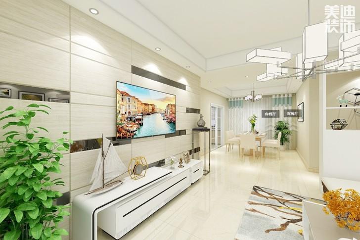 碧桂园.十里江湾120平方现代风格案例效果图-客厅