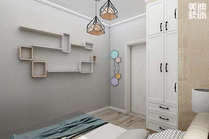 银园公寓89平米现代简约风格装修效果图--次卧2
