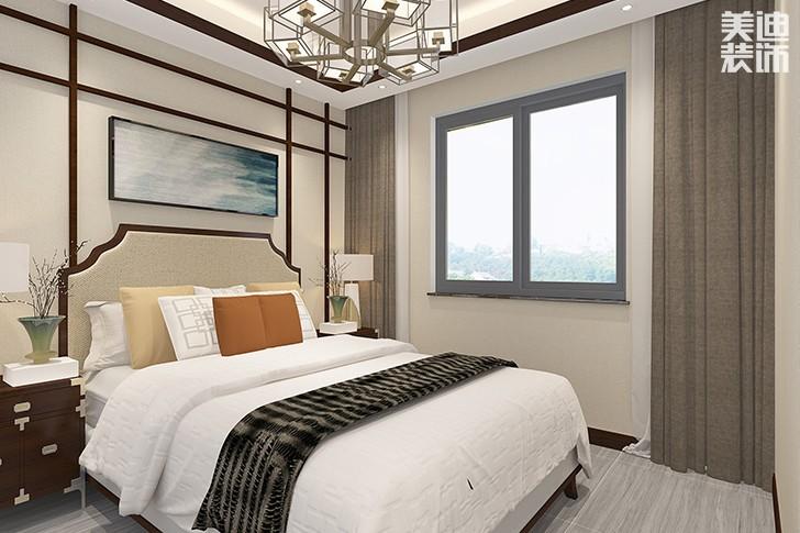 芙蓉盛世138平新中式装修案例效果图--卧室