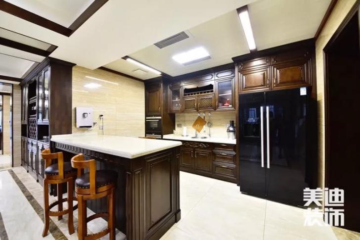 天玺湾300平米新中式风格装修案例实拍图--厨房