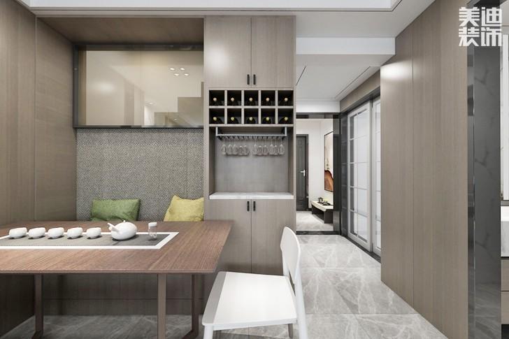 保利西海岸108平米现代风格装修案例效果图--餐厅