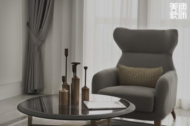 红星店样板间90平米简欧风格装修案例实拍图--沙发