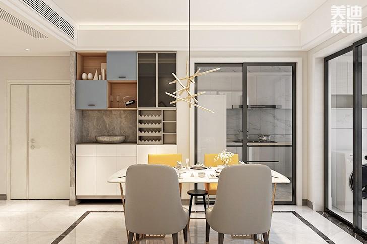 五矿万镜园169平米现代轻奢风格装修案例效果图--餐厅