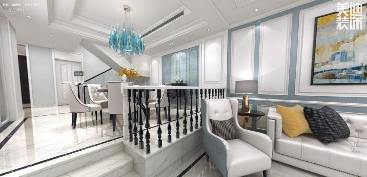 万境蓝山300平米欧式轻奢风格装修效果图--餐厅