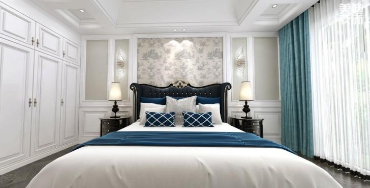 万境蓝山300平米欧式轻奢风格装修效果图--卧室