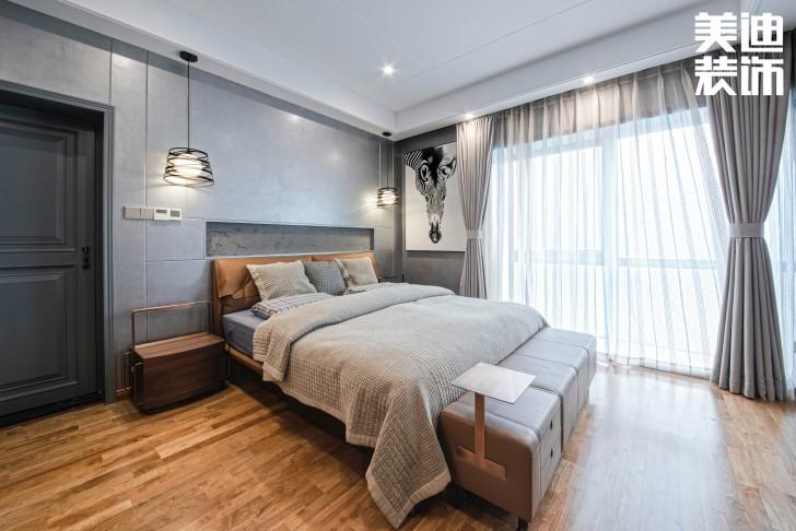 北辰定江洋260㎡现代混搭风格装修案例实拍图-卧室
