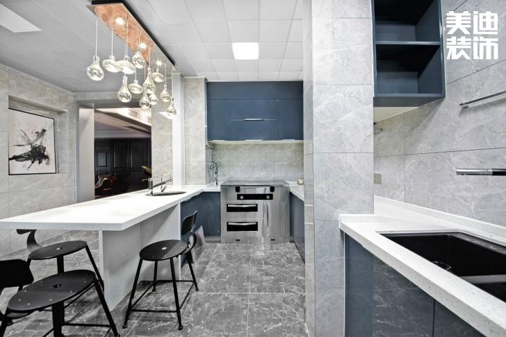 北辰定江洋260㎡现代混搭风格装修案例实拍图-厨房